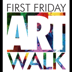 First friday logo marquee