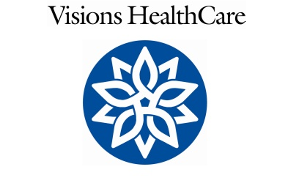 Visions healthcare above logo