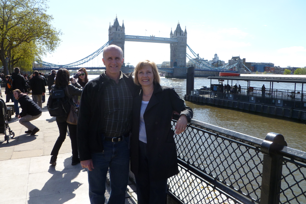 Rich and Laurie in London