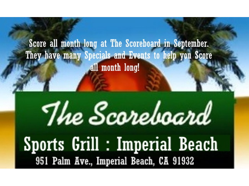 Score all month long at The Scoreboard in September  They