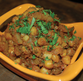 Organic Baby Potatoes and Chickpeas Indian Recipe