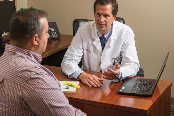Mike Zdinak, patient, and Christopher Wentz, MD, UPMC Heart and Vascular Institute