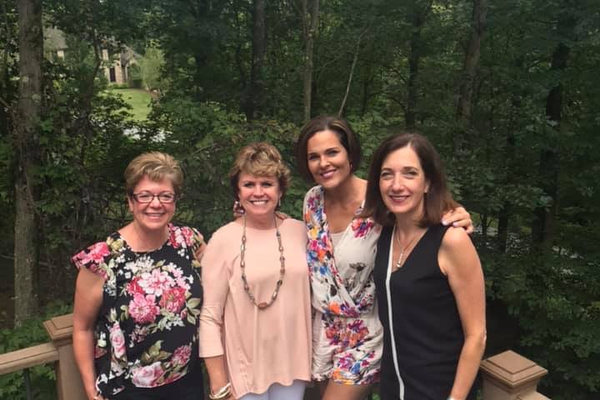 Inspired Women chapter leaders Joy Klohonatz, founder Debra Dion Krischke, Kym Gable, and Catherine Montague.