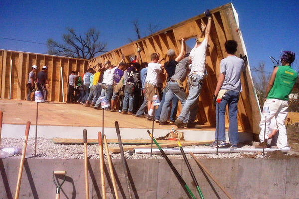 Volunteers spent a week with Hosanna in Joplin, Missouri after homes were destroyed by a tornado.
