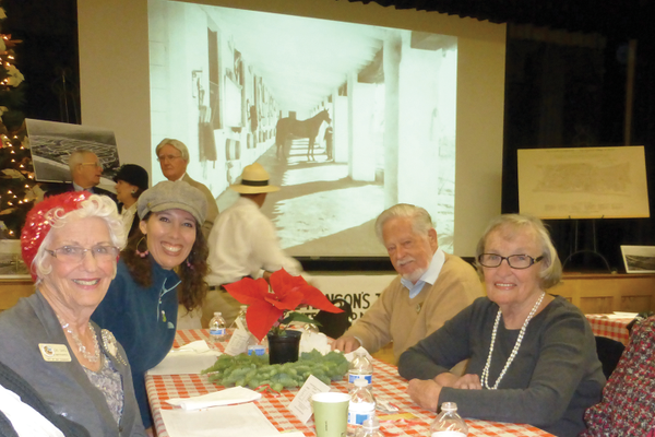 The Ole Hanson Movie & Chicken Dinner Event was held on December 8. 	 Lois Divel (current San Clemente Matriarch), Mary Anne Rose, Jack Lashbrook (current San Clemente Patriarch), Marilyn Driscoll.