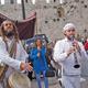 A Bar Mitzvah parade into Jerusalem's old city.
