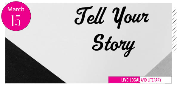 """Tell Your Story"" in cursive"
