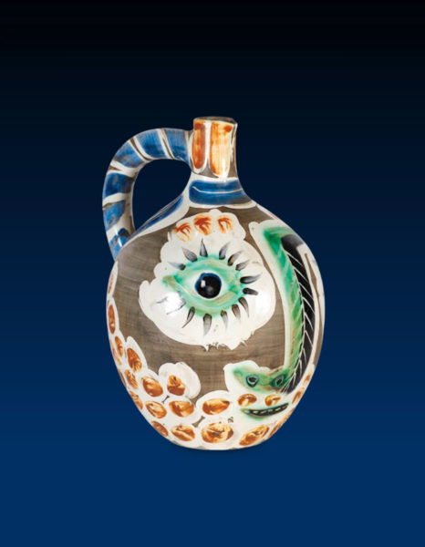 Picasso ceramic jug with eye