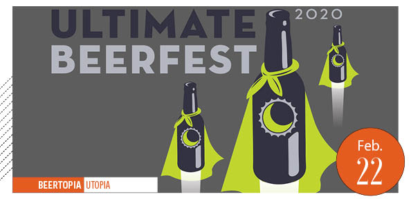 Ultimate Beerfest poster, caped beer bottles