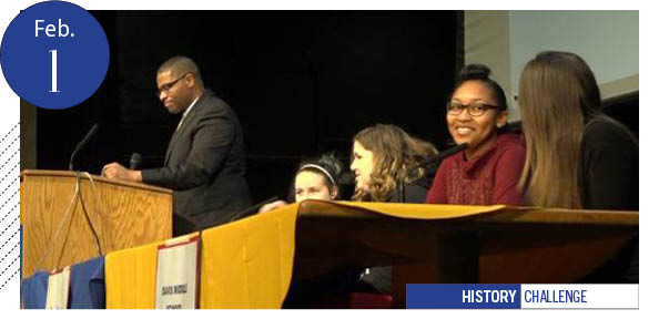 students, moderator, African American History Challenge