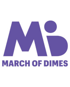 March of Dimes, white background