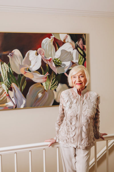 Marian Leary at home, full image