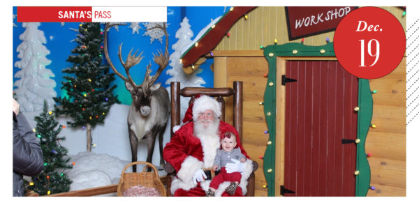 Santa shack at Cabela's