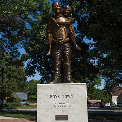 The Work Continues statue,Boys Town Notable Omaha Statues