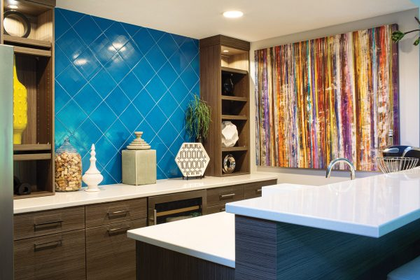 Arkfeld's teal backsplash