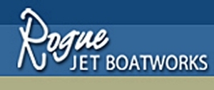 Medium rogue jet aluminum boatworks logo short