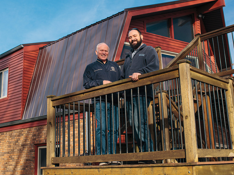 Brett and Pete Ciaccio of Ciaccio Roofing Corp.