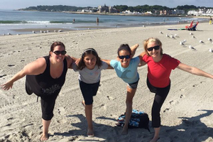 Beach Yoga Narragansett RI Natural Fitness