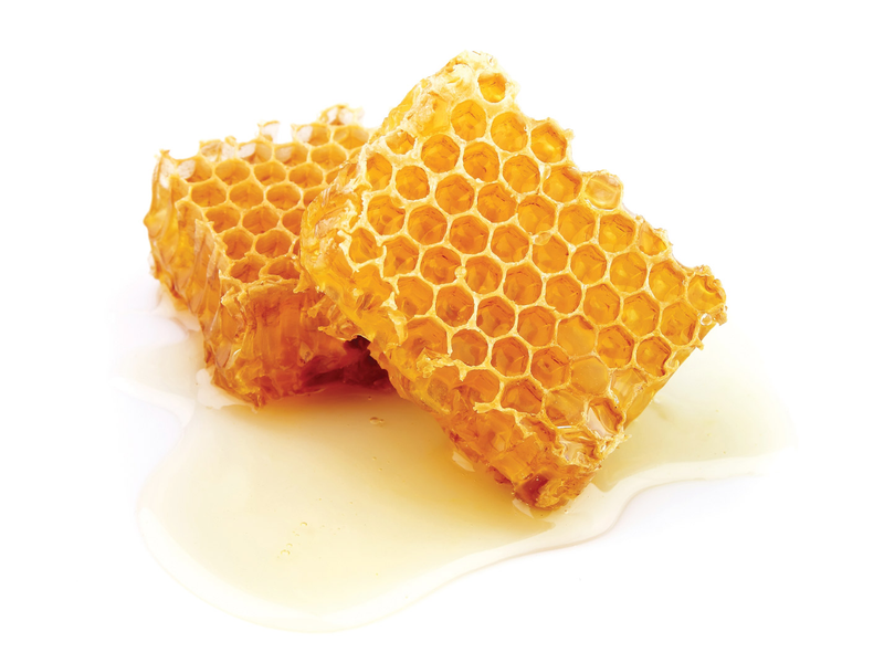 Honeycombs with honey
