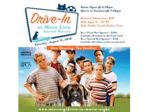 Drive-In Movie Night The Sandlot - start 08152020 0630PM