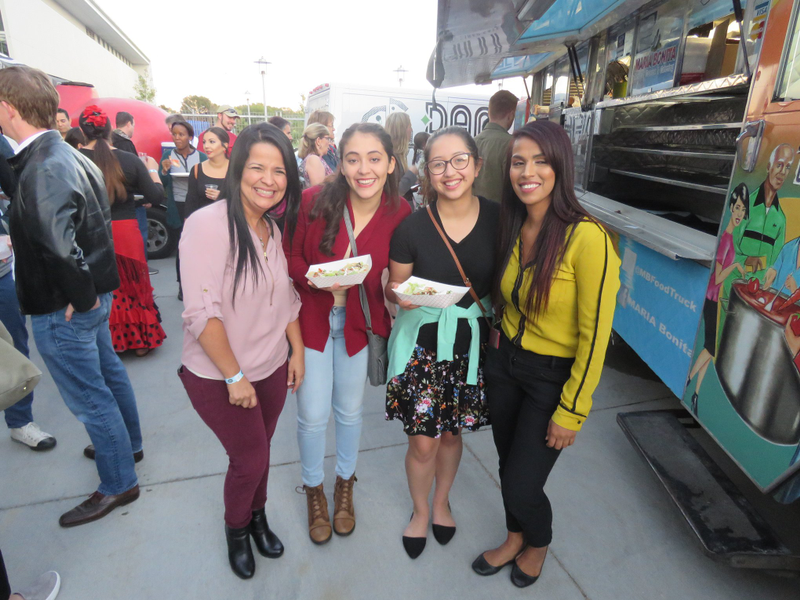 four women at food truck