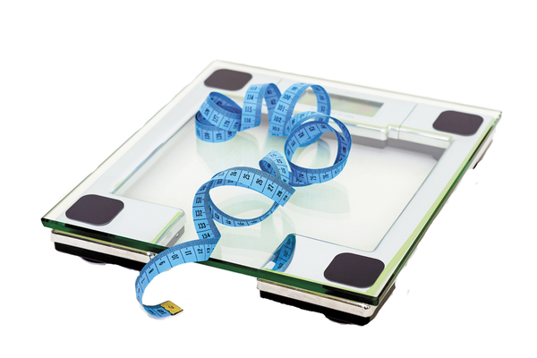 Scale and Tape Measure for Weight and Body Mass