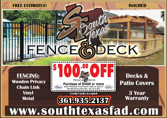 South 20texas 20fence 20  20deck 20  20v cc 20  20feb march 202021