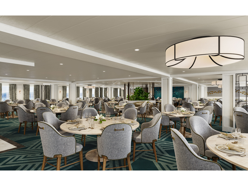 American Cruise Lines' dining room