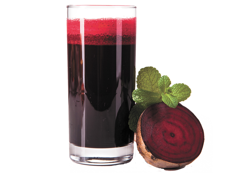 Glass of beet juice to lower blood pressure
