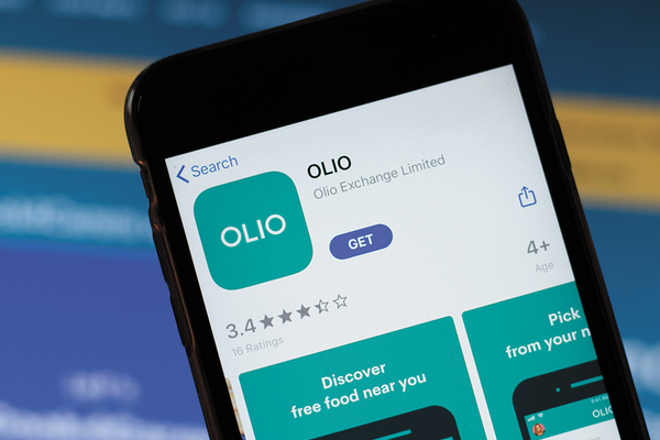 Olio app on a smartphone