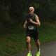 Mark Blaisdell runs down the home stretch of the Tewksbury Memorial Day 5K Fun Run.