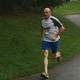 Fabio Piergentili prepares to finish the Tewksbury Memorial Day 5K Fun Run.