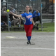 Sophomore third baseman Kirsten Dick fires to first