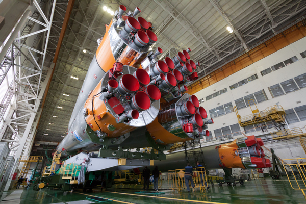 The Soyuz rocket and Soyuz TMA-12M spacecraft are assembled in Baikonur, Kazakhstan (#10)