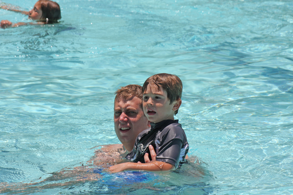 The summer swim season launched Saturday with a free pool party at Begg Pool, put on by the City of Manhattan Beach's Parks & Recreation Department.