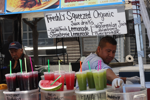 The market offers refreshing beverages.