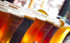 Medium craft beers slanted