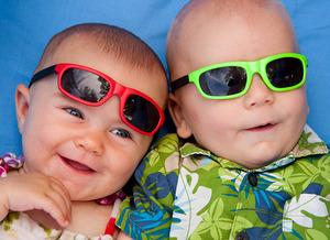 Medium babies in sunglasses