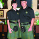 Father and son pipers for AOH Pipe Band both named Andrew Cary at the 2012 Hamilton St Patricks Day Parade Kick-off party at Killarneys