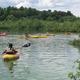 Paddling on Long Pond during Adventure Kids camp.