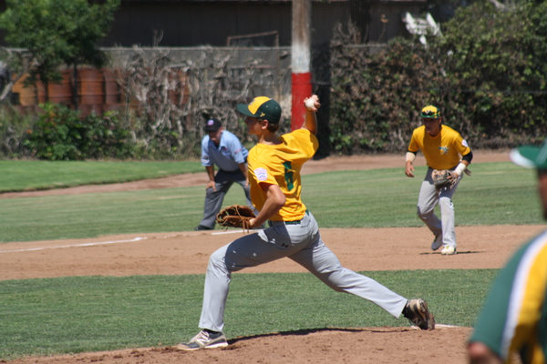 Nathan Draves on the pitcher's mound in Senior All-Star play in 2014.