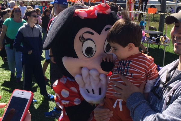 Minnie Mouse was very popular at the Fall Harvest Fair in Tewksbury.